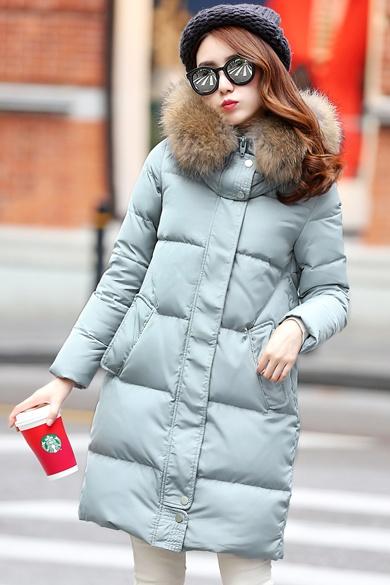 衣饰馨语2015冬装新款女装韩版中长款大毛领羽绒服加厚保暖羽绒衣外套