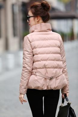衣饰馨语2015冬装新款女装韩版A字斗篷显瘦立领时尚棉衣棉服短外套