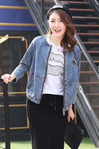 衣饰馨语欧洲站2016春装新款牛仔上衣女宽松显瘦牛仔短外套