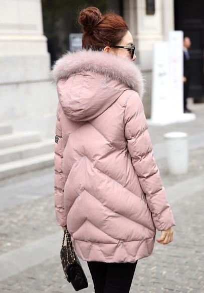 衣饰馨语韩版中长款休闲棉衣