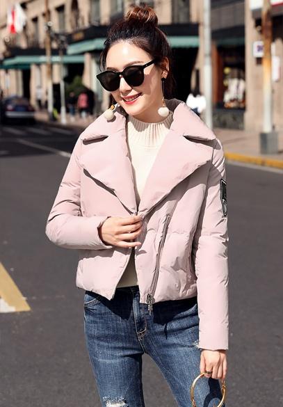 衣饰馨语2017冬装新款欧洲站女士短款羽绒衣西装领小版羽绒服外套潮