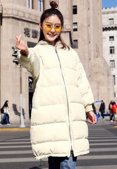 衣饰馨语2017冬季新款韩版中长款时尚插肩袖女士加厚保暖面包服羽绒服外套