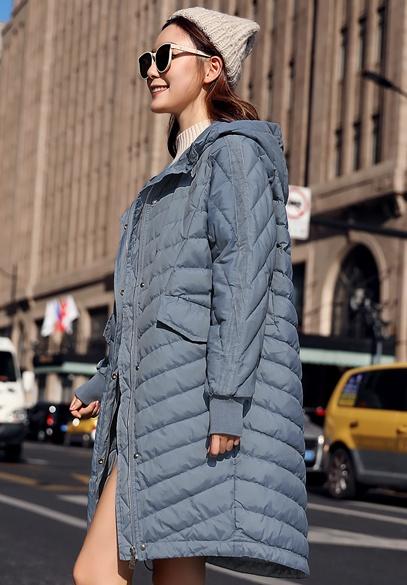 衣饰馨语2018初冬新款大码宽松薄款羽绒服韩版中长款女士连帽羽绒衣外套