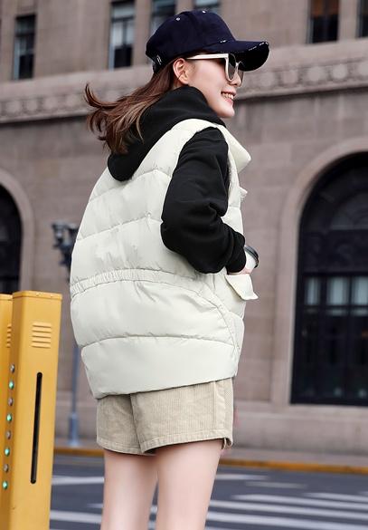 衣饰馨语2018秋冬新款韩版时尚立领棉衣马夹女士短款宽松马甲外套