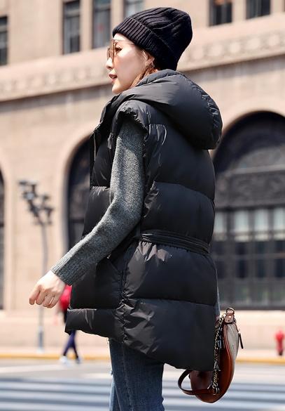 衣饰馨语2018秋冬新款韩版时尚连帽羽绒衣马夹女修身显瘦保暖羽绒坎肩外套