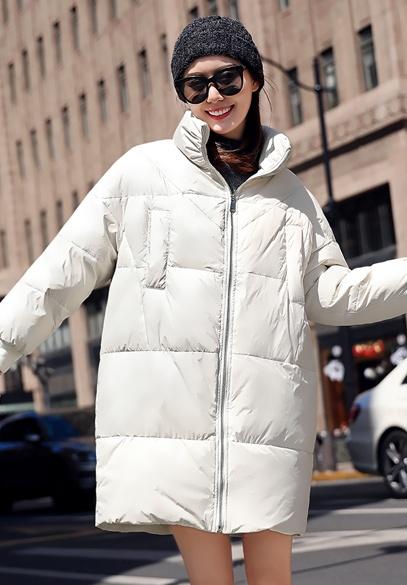 衣饰馨语2018冬季新款韩版时尚中长款显瘦羽绒服女士立领羽绒衣外套