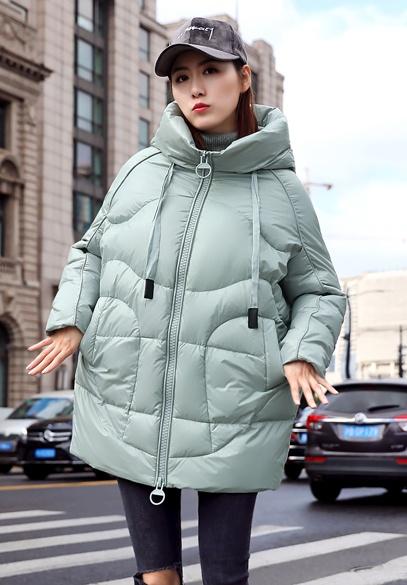 衣饰馨语2018冬季新款韩版时尚茧型显瘦羽绒服女中长款宽松连帽羽绒衣外套