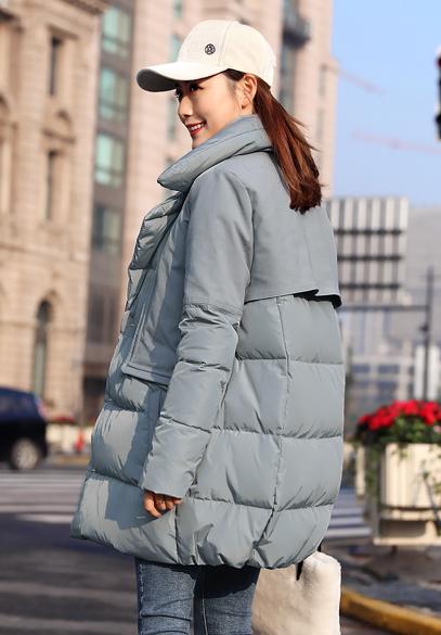 衣饰馨语2018冬装新款韩版中长款西装领时尚显瘦羽绒服女百搭羽绒外套